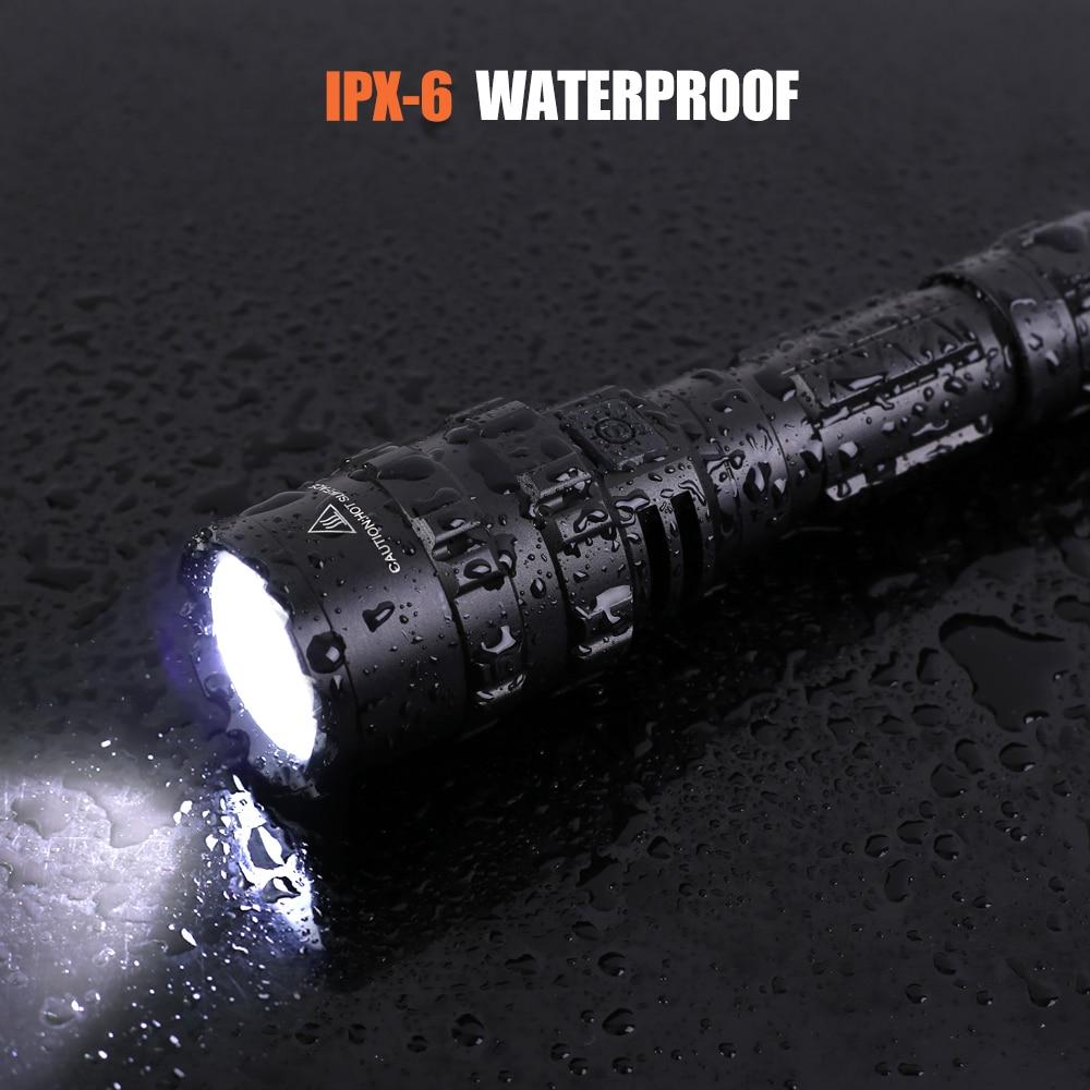 Тактическо фенерче 1600 лумена с щипка - На лов - Снимка 5