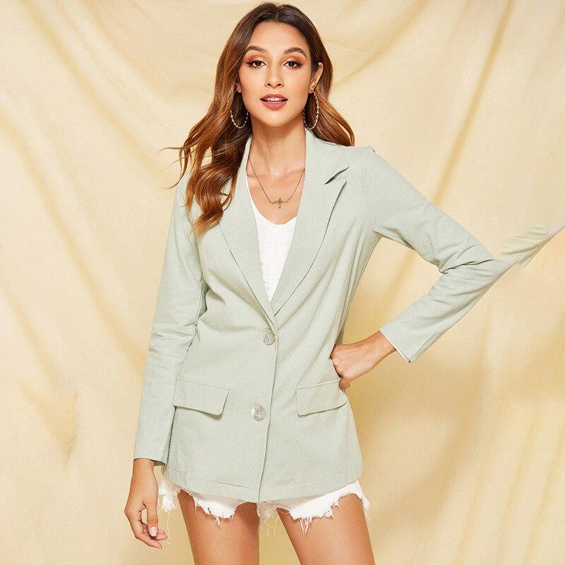Spring Autumn Jacket Women Suit Coats Fashion Casual Turn Down Collar Office Jackets Blazer