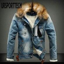 Marca de moda otoño invierno para hombre chaqueta de Denim 2020 nuevo Casual gruesa cálida chaqueta de Jean Denim abrigos vaquero de estilo callejero chaquetas hombre