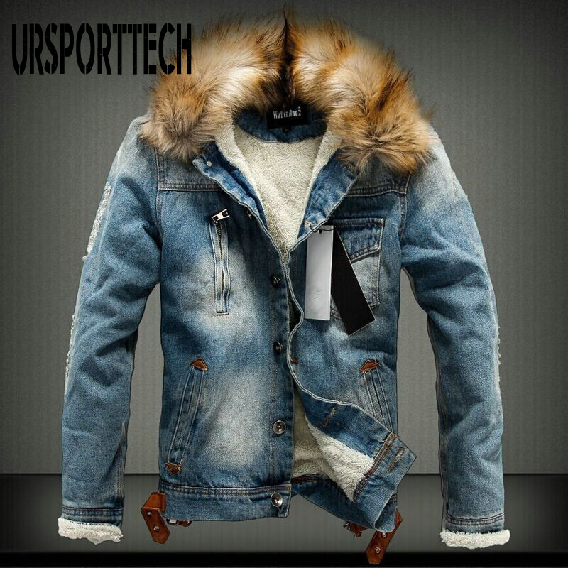 Fashion Brand Autumn Winter Mens Denim Jacket 2020 New Casual Thick Warm Jean Jacket Denim Coats Street Style Denim Jackets Male