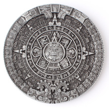 Belt DIY Aztec Solar Calendar Buckle Mysterious ancient Mayan civilization pattern