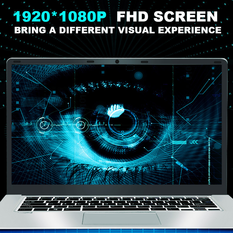 Laptop 15.6 inch 8G RAM 128G 256G 512G 1TB SSD ROM Notebook Computer intel Core Quad Windows 10 Ultrabook For Students Office 6