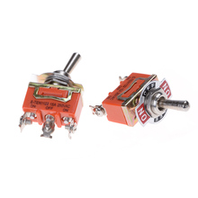 Orange SPDT 3 Terminal ON/OFF/ON Toggle Switch 15A 250V Toggle Switch High Quality 1PCS