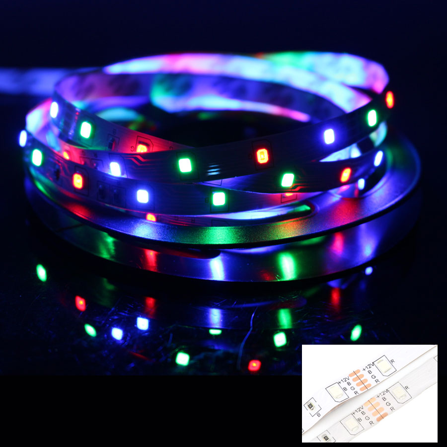 12V Led Strip 12 V RGB Waterproof SMD 2835 1 - 5M 60LED/M RGB 12 V Volt Led Lights Strip Tape Lamp Diode TV Backlight LedStrip