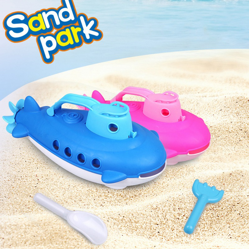 Kid Beach Toys Children Baby Submarine Bath Toys Beach Toys Boat With Spinning Rear Propeller Shower Swimming Toys For Kids