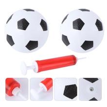 1 Set 3pcs 12CM Diameter Kids Mini Soccer Ball Toys Indoor Outdoor Educational Football for Children Toddlers (2pcs Whit