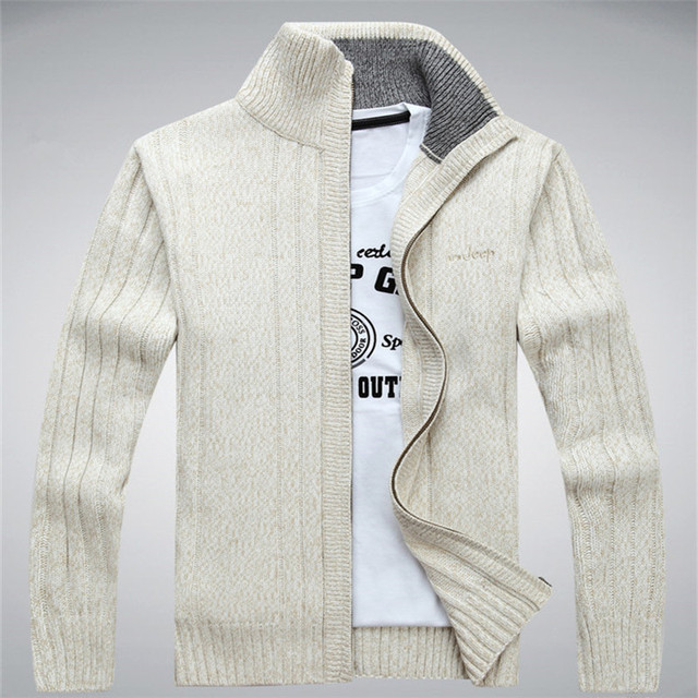 גברים של חורף סוודר מזדמן סרוג קרדיגן מעילי עבה חם בגדי קשמיר סוודר מעילי הלבשה עליונה זכר לסרוג סוודר