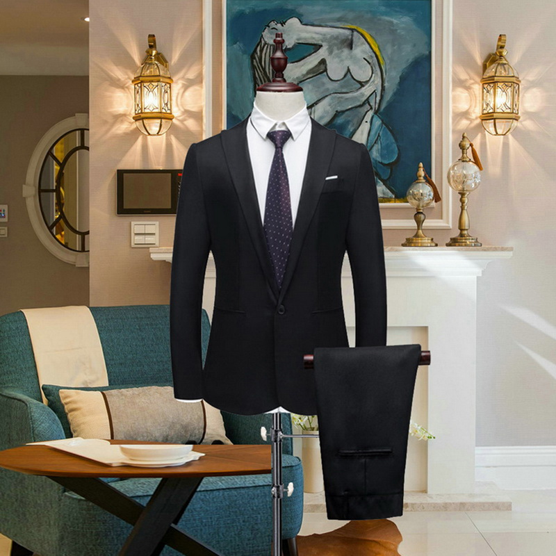 Men Wedding Suit Male Blazers Slim Fit Suits For Costume Business Formal Casual Work Wear Suits Spring Autumn Thin Section Suits
