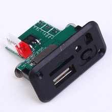 12V Audio Mini reproductor MP3 tablero decodificador U Disk WAV módulo ABS soporte TF tarjeta duradera con control remoto controlador portátil(China)