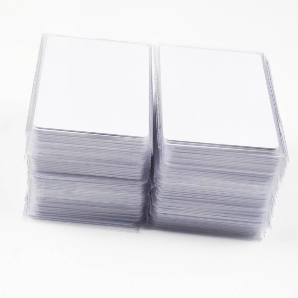 100pcs RFID Key Tag Access Control Card 13.56 MHZ Contactless High Frequency IC Cards White PVC Access Attendance NFC Card