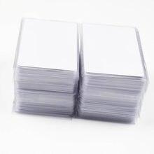 100 adet RFID anahtar etiketi erişim kontrol kartı 13.56 MHZ temassız yüksek frekans IC kartları beyaz PVC erişim katılım NFC kart