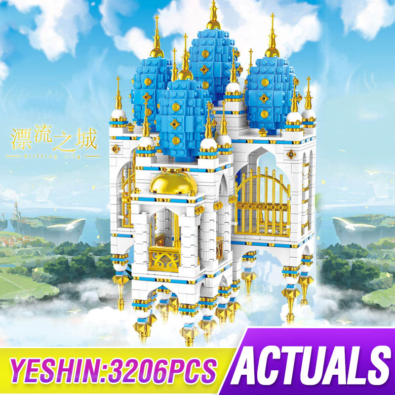 MOC SkyCastle Street Building Toys The Floating Castle House Compatible Lepining Building Blocks Bricks Kids Toy Christmas Gifts