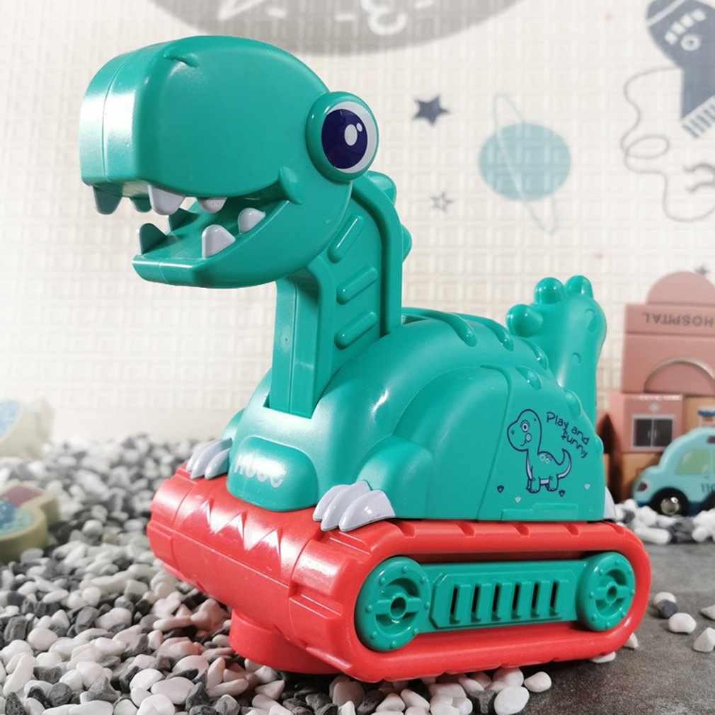 1Pc Dinosaur Music Lighting Engineering Vehicle Electric Kids' Sliding Universal Mining Car Toy Car Walking Forward