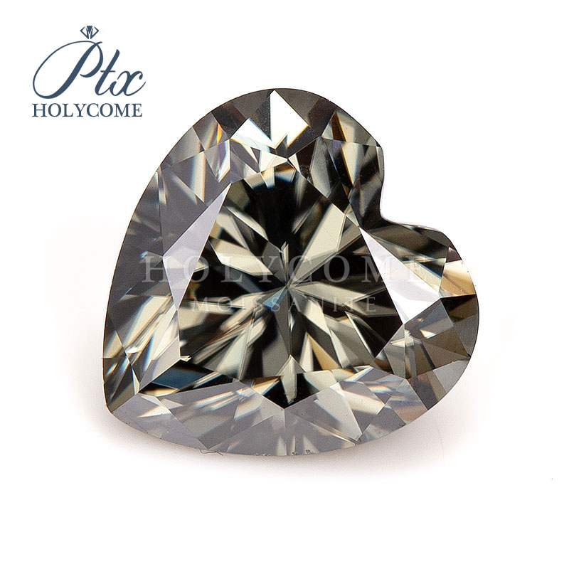 2020 Wholesale Custom high quality gemstone gray color 4*4mm 0.3ct heart cut loose moissanite diamond gemstones
