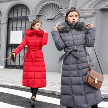 Gorgeous And Elegant Womens Winter Decoration In The Long Section Of Autumn Large Fur Collar Wide Waist