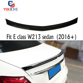 W213 V Style Car Rear Wing For Mercedes E Class W213 4-door Sedan E250 E300 E350 2016 + Carbon Fiber Material Spoiler