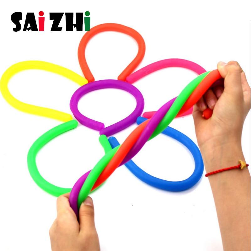 Saizhi Children Adult Decompression Toy Luminous Noodle Stretch String TPR Rope Anti Stress Toys String Fidget Autism Vent Toys
