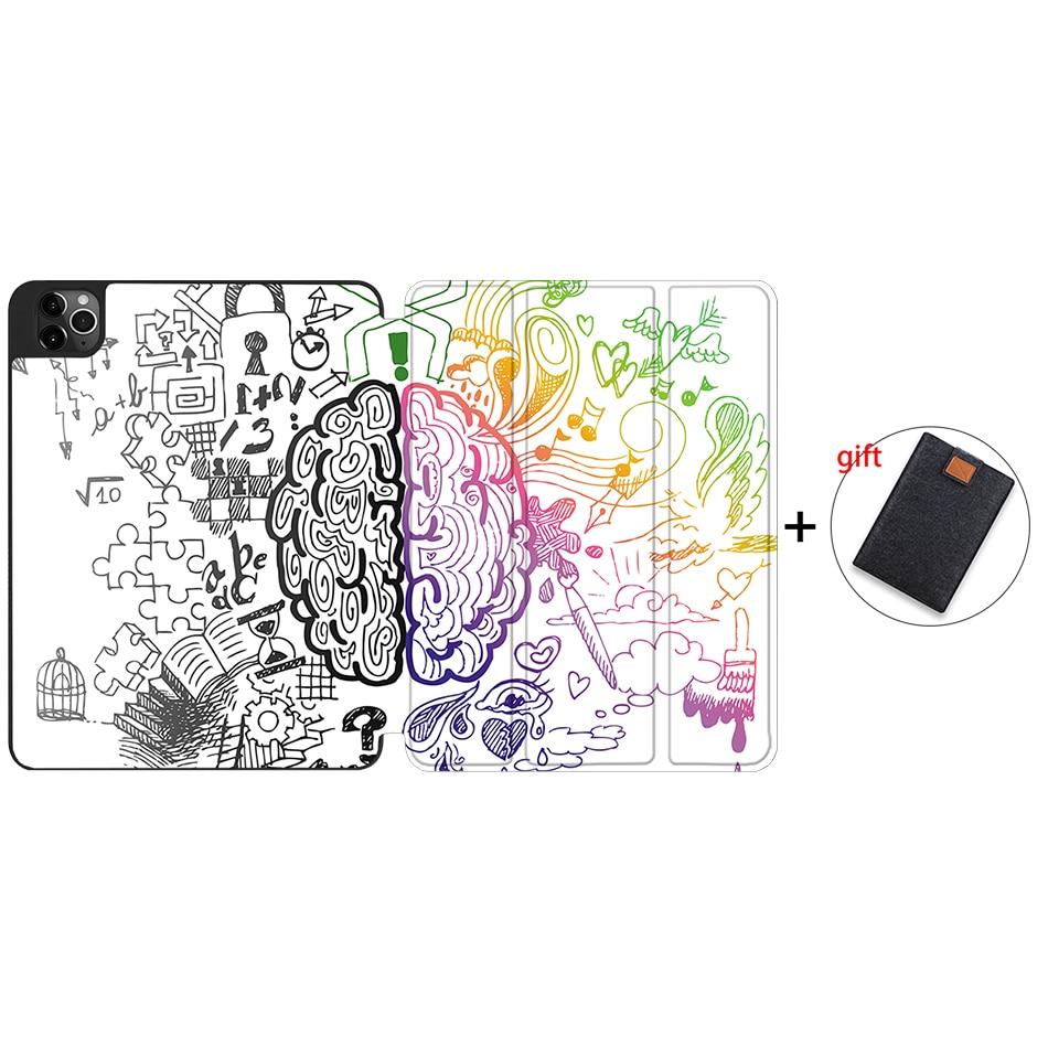 IPTPU07 Purple MTT Case For iPad 4th Gen Pro 12 9 2020 Release A2229 A2233 Soft TPU Back