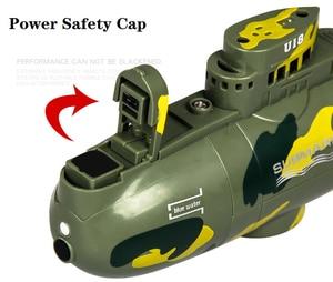 Image 4 - 3311M דגם 6CH גבוהה מהירות מנוע שלט רחוק סימולציה צוללת חשמלי מיני RC צוללת ילדים ילדי צעצוע מתנה