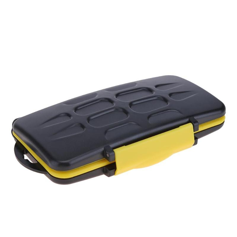 Large Waterproof Memory Card Case All In One Anti-Shock 12SD+12TF Capacity Storage Holder Box Cases For SD/ SDHC/ SDXC/TF Cards