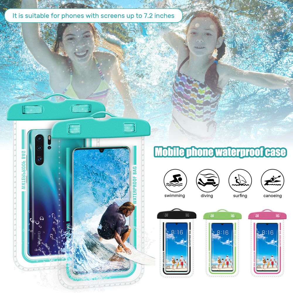 Hbe9340b43f19421a9c502505d5eef67fa - Waterproof Phone Pouch Drift Diving Swimming Bag Underwater Dry Bag Case Cover For Phone Water Sports Beach Pool Skiing 6 inch