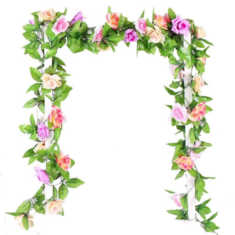 240 см/много шелковых роз, плющ, лоза и зеленый лист, свадебное украшение для дома, искусственные листья, висячая гирлянда «сделай сам», искусственный цветок|Искусственные и сухие цветы|   | АлиЭкспресс