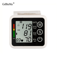 Health Care Automatic Wrist Digital Blood Pressure Monitor New Germany Chip Tonometer Meter for Measuring And Pulse Rate Unisex mp5w 44 new and original autonics pulse meter 100 240vac