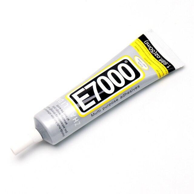 110ml E7000 colle en caoutchouc liquide de haute résistance entièrement transparente pour métal verre pierre porcelaine bois cuir tissu Nylon éponge