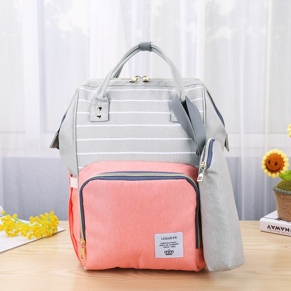 Hbe93b3dfbc204a67a08feb0242a77571L LEQUEEN Fashion USB Mummy Maternity Diaper Bag Large Nursing Travel Backpack Designer Stroller Baby Bag Baby Care Nappy Backpack