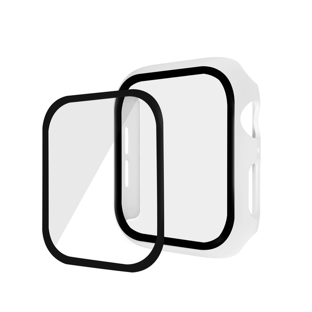 Watch Cover Case for Apple Watch 5/4 40MM/44MM PC Bumper with Glass Protector Film for iwatch Series 3/2 38 42MM  accessories 2