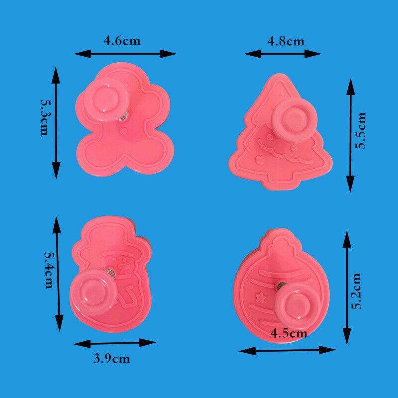 Christmas Cookie  Biscuit Plunger Cutter Mould  Fondant  Cake Mold Baking