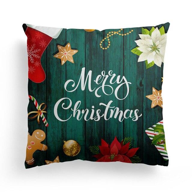 Фото рождественская наволочка для дивана наволочки сиденья автомобиля цена