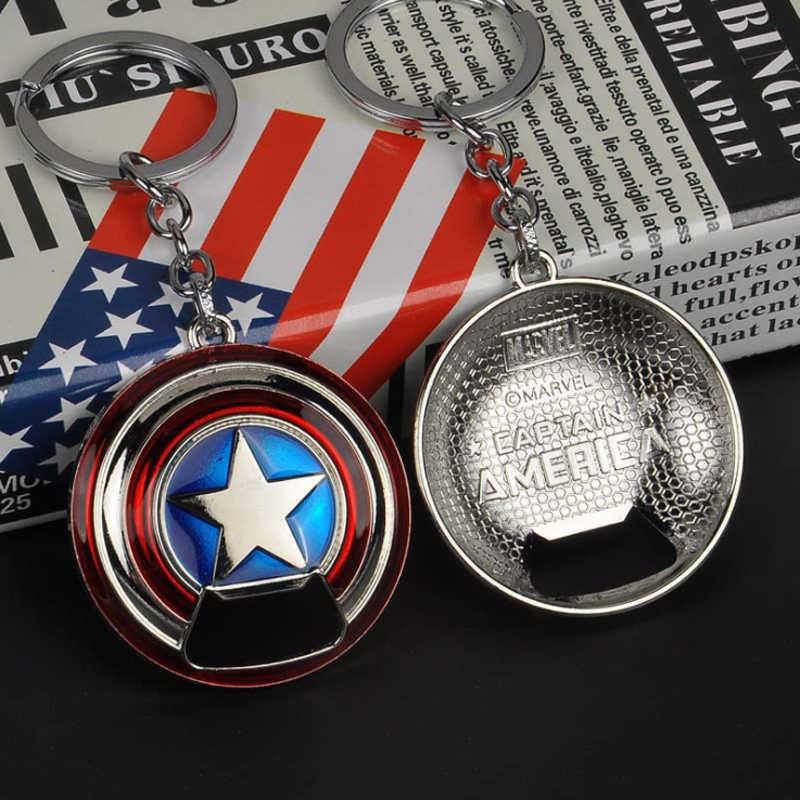 Капитан Америка брелок Marvel брелок для ключей «мстители» и «Тор» брелоки в виде молота Железный человек брелок танос оружие, кольцо для ключей, держатель для Халк металла