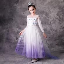 Платье Анны и Эльзы для девочек, белое платье принцессы Снежной королевы, костюм для косплея, на Хэллоуин, день рождения, свадьбу, лето