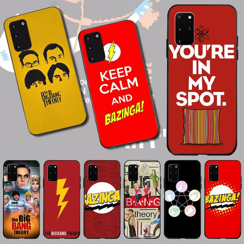 NBDRUICAI Bazinga The <font><b>Big</b></font> <font><b>Bang</b></font> Theory tv show DIY Luxury <font><b>Phone</b></font> <font><b>Case</b></font> for Samsung S20 plus Ultra S6 S7 edge S8 S9 plus S10 5G image