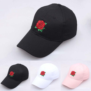 2019 New Hot Fashion Roses Men Women Baseball Caps Spring Summer Sun Hats for Women Solid Snapback Cap Dad Hat Accessories #A