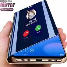Inteligente Caso Espelho Para Samsung Galaxy A51 A52 A72 A32 A50 A71 A70 S21 S20 Caso Estande Da Aleta Para S9 S8 S10 Plus A20 A31 A30 Capa