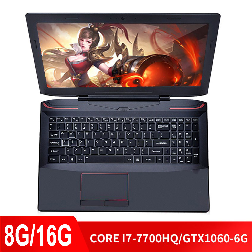 Keyboard Computer Gaming Laptop NVIDIA Backlit GTX1060-6G I7-7700hq Note SSD Ddr4-Ram title=