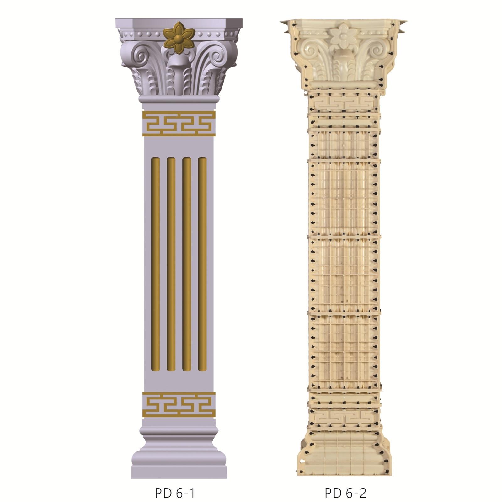 Construction Mould  House Decoration 35cm* 370cm High Square Roman Column Pillar Mold For Sale