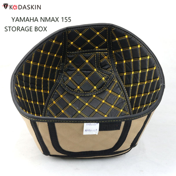 KODASKIN PU Leather Rear Trunk Cargo Liner Protector Motorcycle Seat Bucket Pad Accessories for yzf NMAX 155 nmax155 yamaha