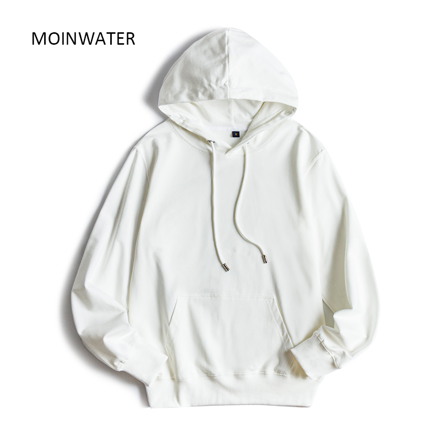 MOINWATER Women 2020 New Casual Terry Hoodie Female Hooded Sweatshirt Lady White Black Hoodies Tops MH1901(China)