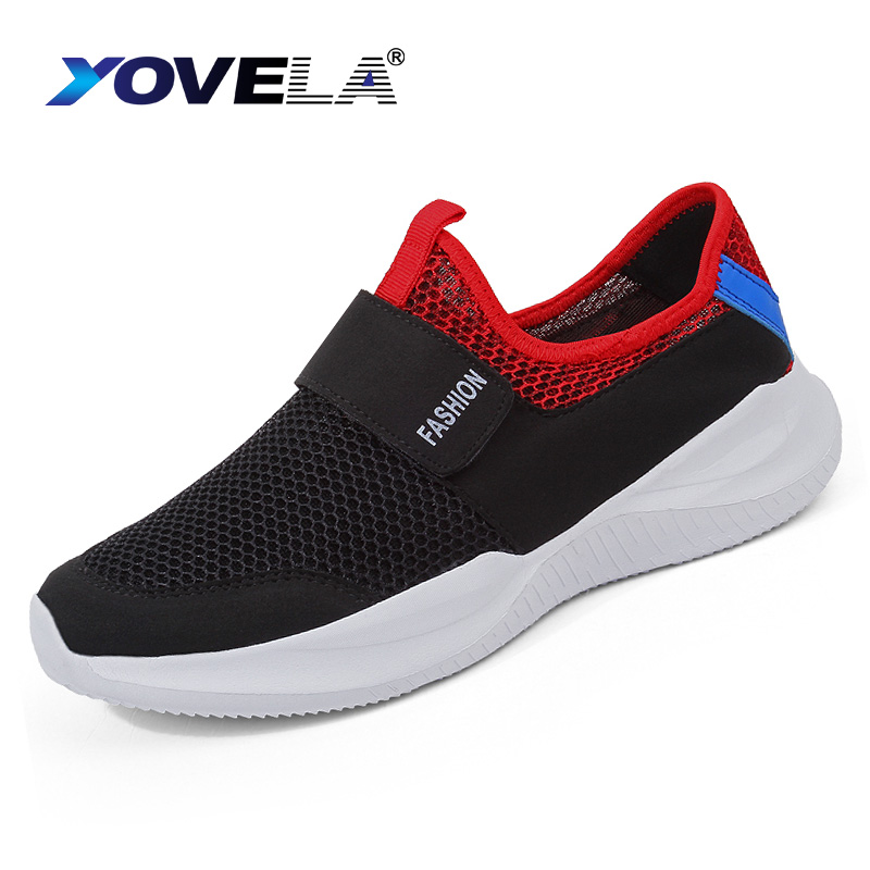 Summer Fashion Men Shoes Casual Flats Shoes Men Breathable Slip Mesh Footwear Lace Up Leisure Male Sneakers Plus Size 39-46