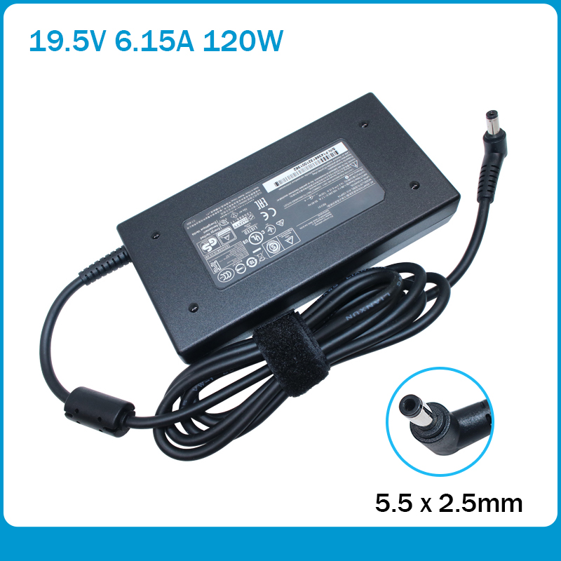 Original Chicony 120W Power Adapter For MSI GE60 GE70 GP60 PE62 GE72 GF63 16J6 16GH AC DC Laptop Charger A12-120P1A 19.5V 6.15A
