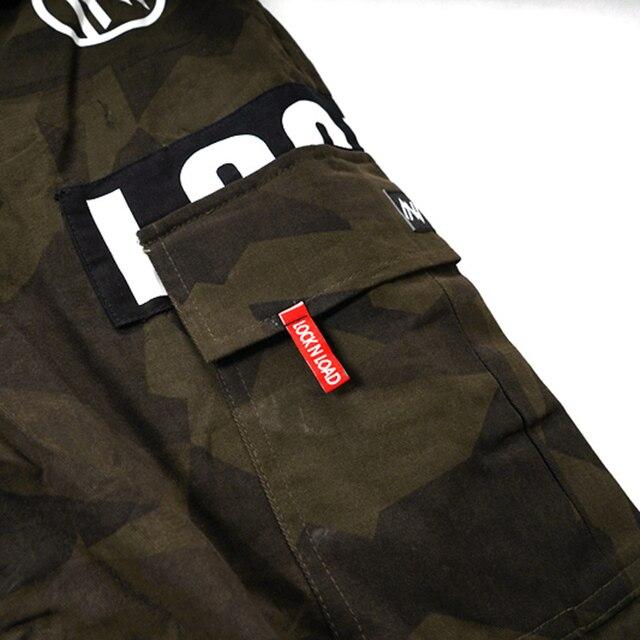 2020 Hip Hop Cargo court Camouflage hommes Harajuku court joggeurs Streetwear tatique militaire décontracté poche latérale court Camouflage Hipster