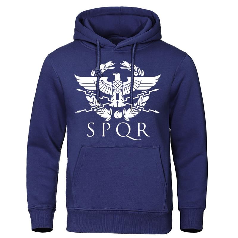 SPQR Roman Gladiator Imperial Tracksuit Autumn Men's Fashion Hoodies Casual Sweatshirts Harajuku Pullover Streetwear Eagle Tops