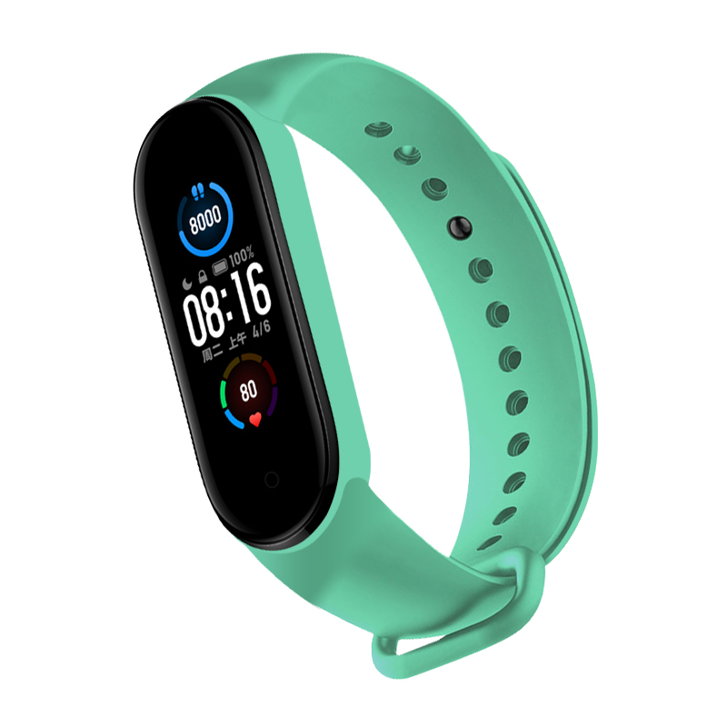 bracelet Strap For M6 Smart Watch Replaceable Wristband TPU Solid Color Replacement Wristband For Xiaomi Mi Band 6 ,Only Strap