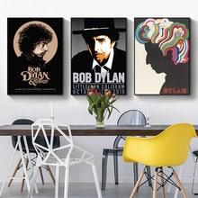 Винтажные постеры и принты рок певица Боб Дилан настенная живопись