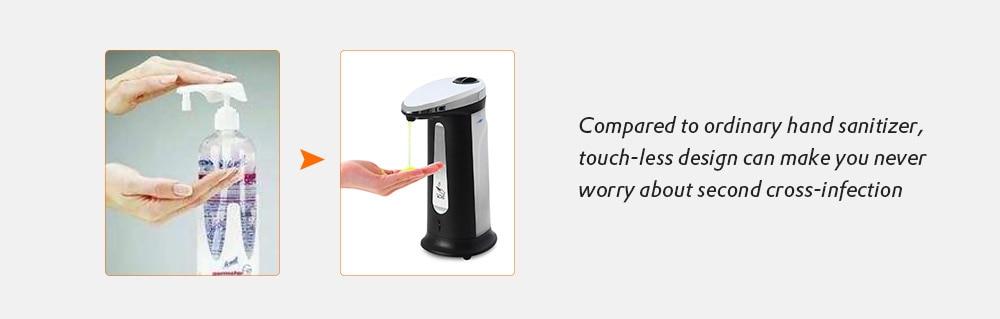 Hbe94ca31bab14f3fb44ca7c5bcc510c8V Liquid Soap Dispenser 400Ml Automatic Smart Sensor Touchless ABS Electroplated Sanitizer Dispensador Bottle for Kitchen Bathroom
