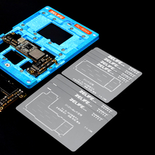 RELIFE 10 IN 1 BGA Reballing Platform for iPhone X/XS/11/11 Pro/12 Pro Max Motherboard Middle-Level Tin Planting With Stencil