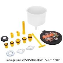 2021 neue 15Pcs Kunststoff Füllung Trichter Auslauf Gießen Öl Werkzeug Spill Proof Kühlmittel Füllung Kit